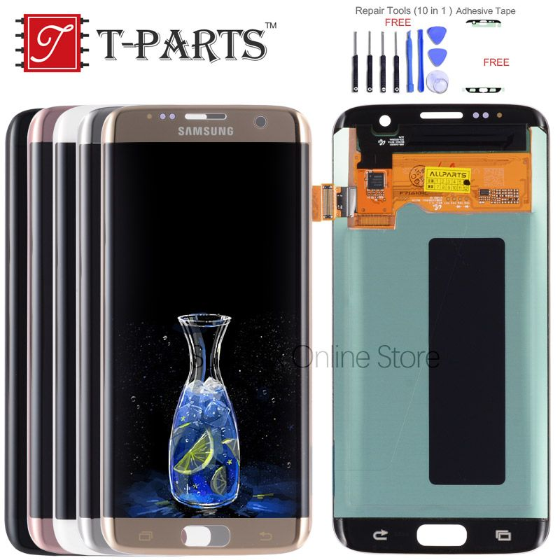 T-PARTS New 5.5 Super AMOLED For SAMSUNG Galaxy S7 Edge LCD Display G935 G935F G935FD SM-G935 Touch Screen Digitizer Parts