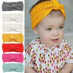 Bayi Rajutan Crochet Headband Top Knot Elastis Sorban Bayi Perempuan Kepala Wrap Rambut Band Telinga Hangat Bayi Headband Aksesoris D30