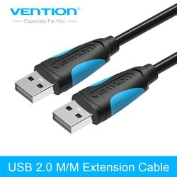 Vention USB to USB Extension Cable High Speed USB 2.0 Data Transfer Cable 1m 2m 3m USB Cable For Computer HDD Cable Extender