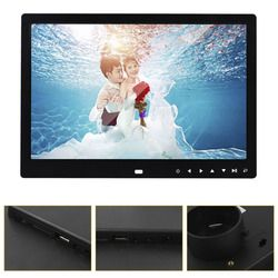 12 inch LED 1200*800 Electronic Frame Front Touch Buttons Pictures Music Porta Retrato Marco De Fotos MP3 Video Built-in Speaker