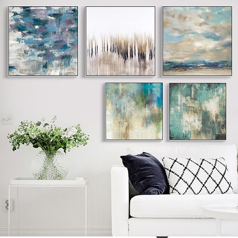 Green Scenery Abstract Wall Art Style Poster And Print Modern Canvas Painting Poster Living Room Bedroom Home Decor art Painting