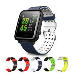 Universal reemplazo de silicona pulsera banda de reloj 20mm dos tonos de agujero redondo para xiaomi huami amazfit bip, TICWATCH2, weloop