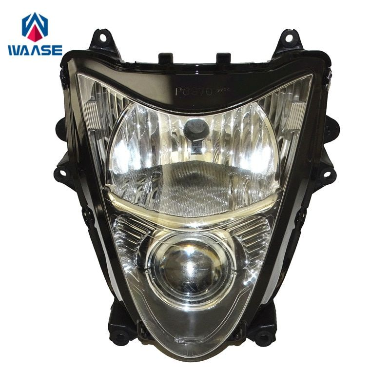 waase Motorcycle Front Headlight Headlamp Head Light Lamp Assembly For Suzuki Hayabusa GSXR1300 GSX1300R 2008 2009 2010-2016