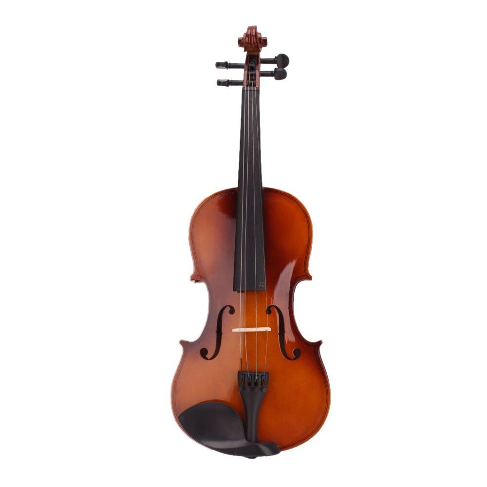 Music-S  4/4 Full Size Natural Acoustic Violin Fiddle with Case Bow Rosin
