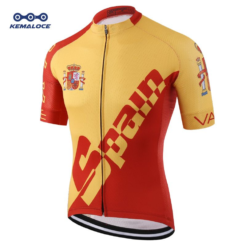 Pro Tour Spain brand Cycling Jersey Wear Racing Ciclismo Cycling Apparel Kit Road Compression Digital Printing Uv Bicycle Shirts