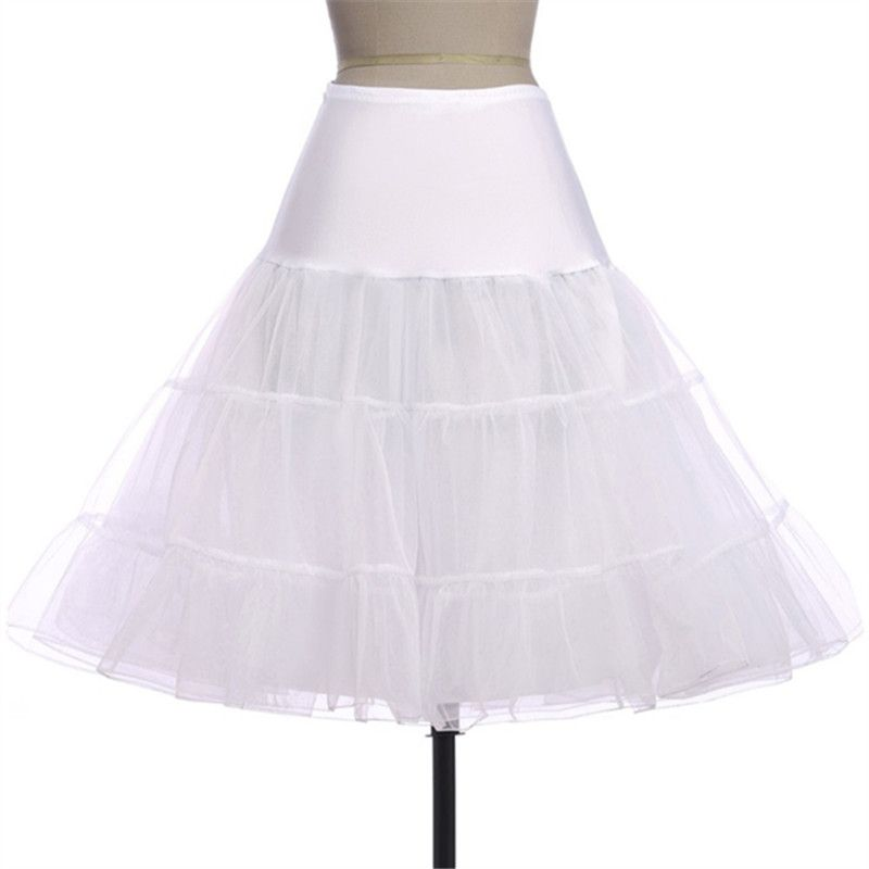 Envío Gratis Corto Organza Enagua para los Vestidos De Boda Enaguas de la Enagua de La Crinolina Nupcial de La Boda de La Vendimia Rockabilly Tutu
