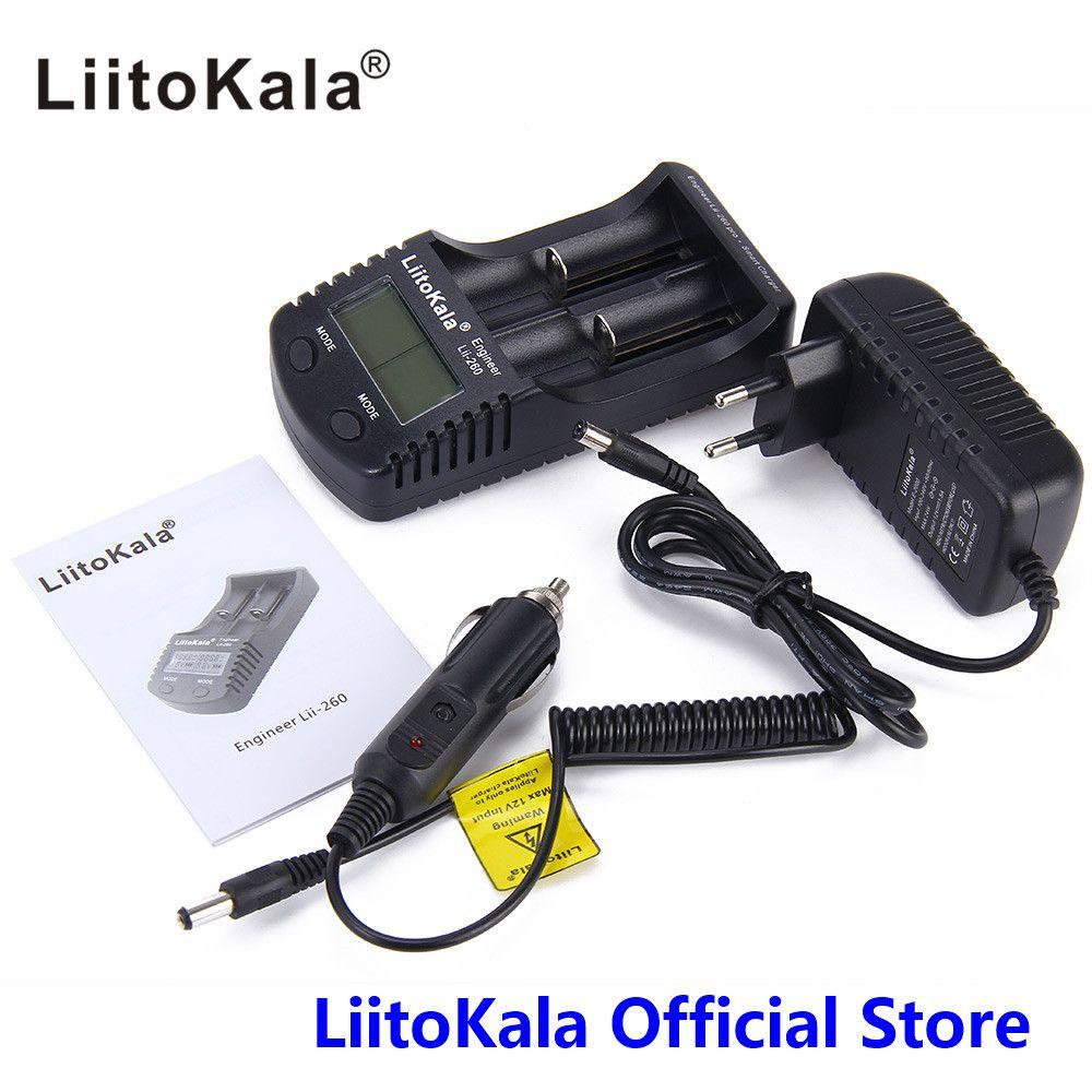 LiitoKala lii-260 LCD 18650/16340 Intelligente Ladegerät, Erkennung von lithium-batterie kapazität/innenwiderstand/spannung