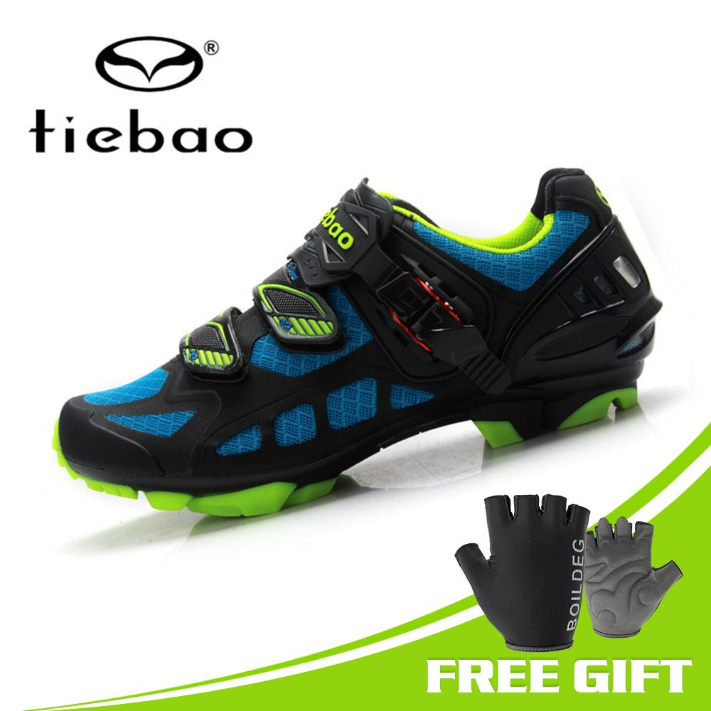 TIEBAO New Cycling Shoes Breathable Sapatilha Ciclismo Mtb Shoes Men Bicycle Self-locking Mountain Bike Shoes Triathlon Bikers