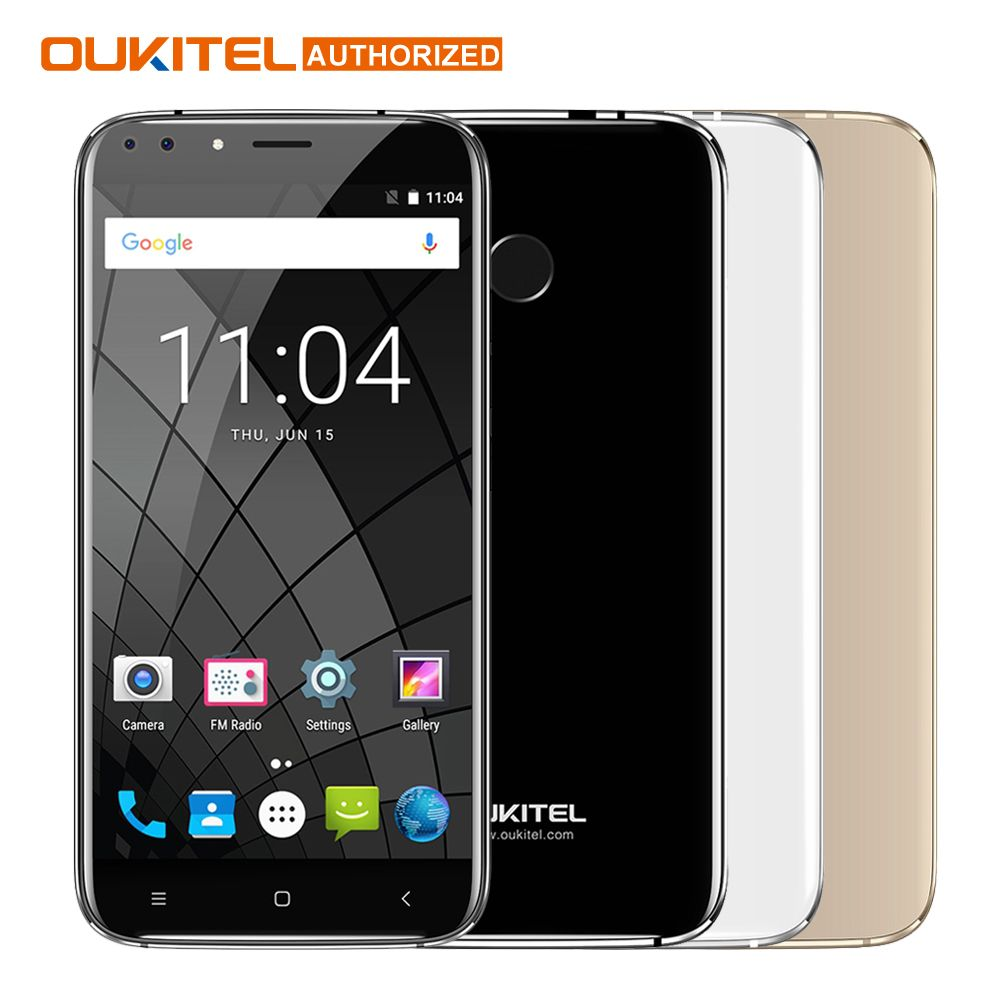 Four Lens Shoot Oukitel New Mobile U22 Smartphone 5.5inch Android 7.0 2700mAh HD MTK 6580 Quad Core 13MP Back Camera 2GB + 16GB