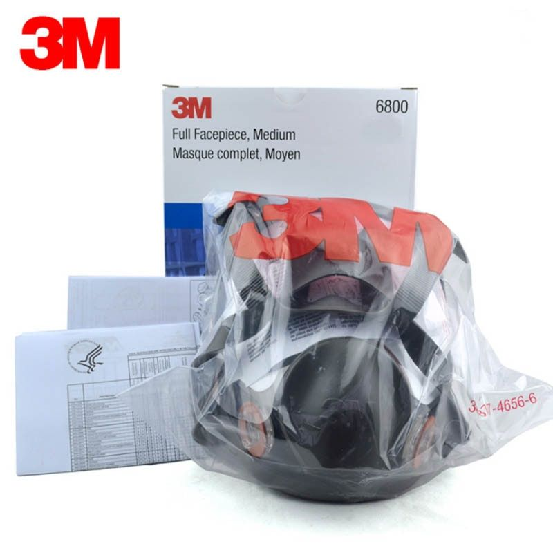 Original 3 mt 6800 Malerei Spritzen Atemschutz Gas Maske Industrie Chemische Volle Gesicht Gas Maske Medium