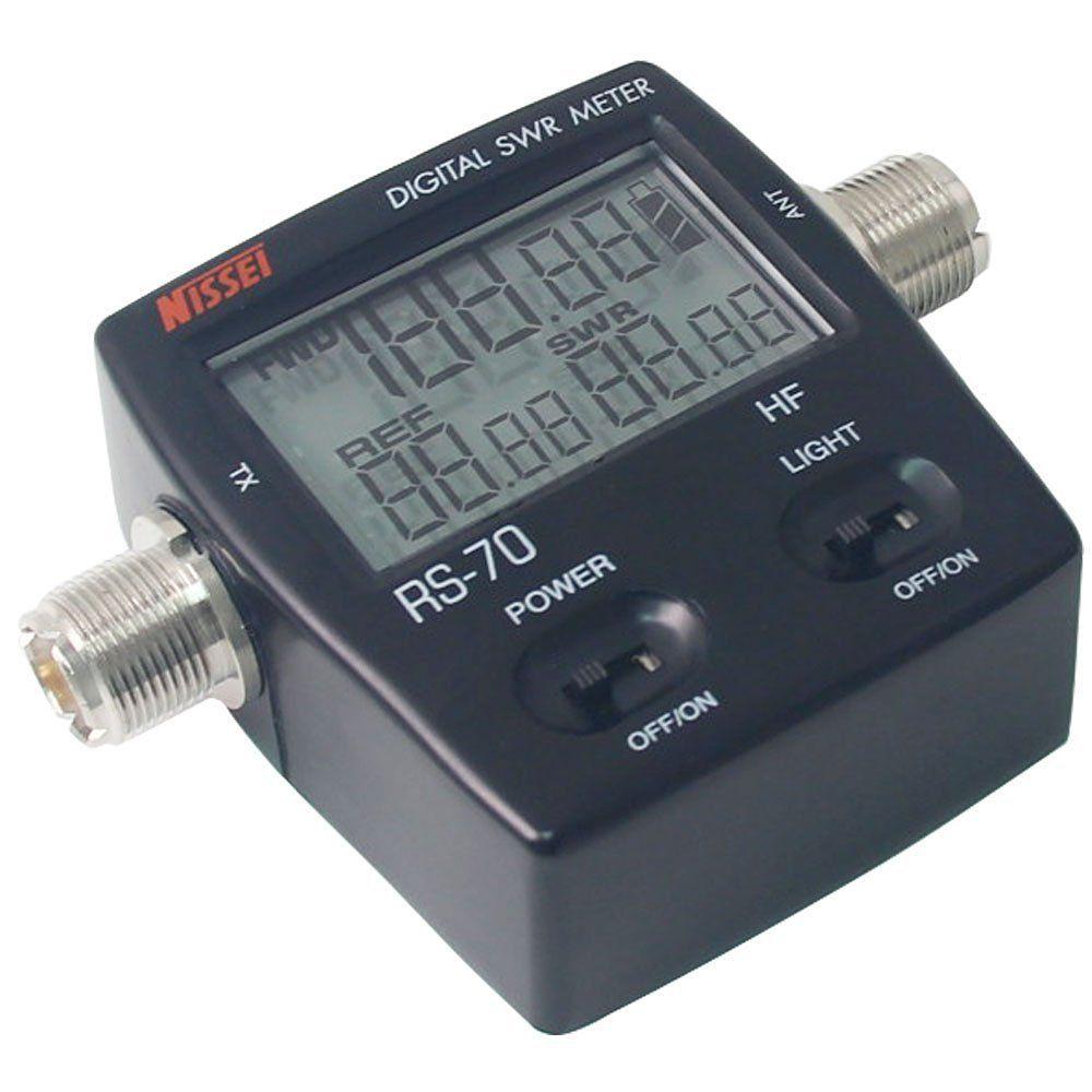 NISSEI RS-70 Digital SWR/Power Meter HF 1.6-60MHz 200W SO239 M Type Connector For Two-way Radio SWR Power Meter Walkie Talkie