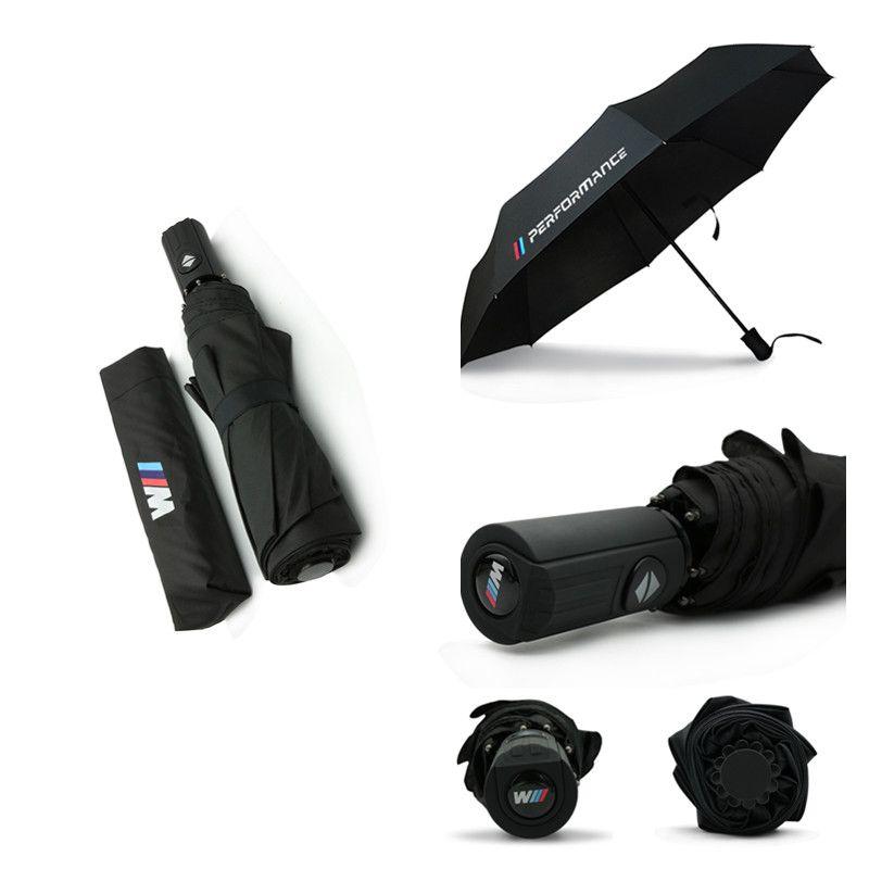 M performance Automatic Umbrella Car logo Stickers For BMW E39 E53 E46 E60 E36 F30 F10 E30 E34 E90 F20 X6 X5 E38 Car Accessories