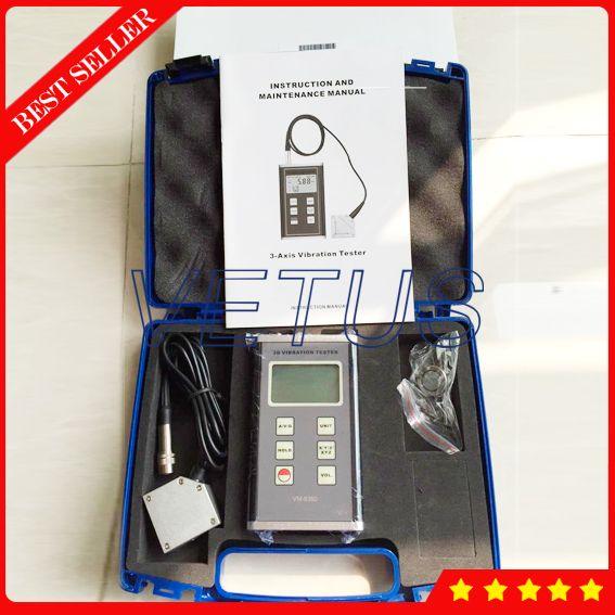 VM-6380 3-achsen-beschleunigungssensor XYZ Digitale Vibration Meter VM6380