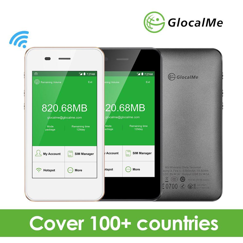 GlocalMe 4G LTE Global Pocket Wifi Wireless Router with 1GB Data No Sim Card Free Roaming Mifi New