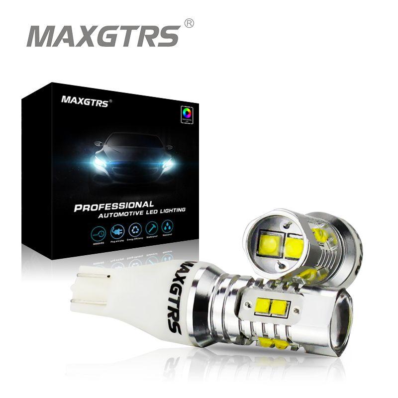 2x 921 912 Genuine CREE CHIP XBD 50W T15 W16W LED Backup Light Car Reversing Bulb Backup Light Turn Signal Light Brake Lamp