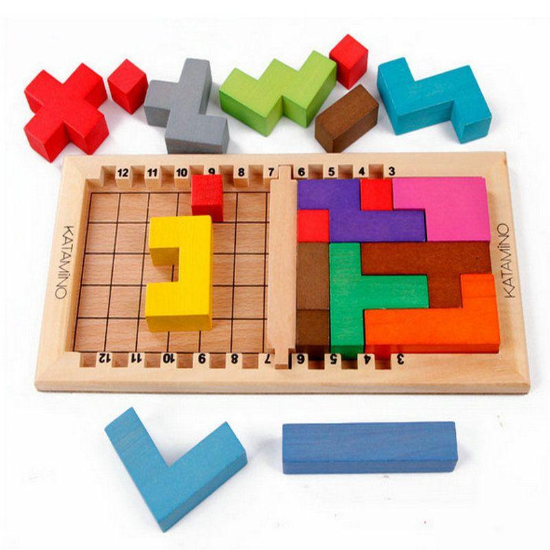 Livraison gratuite blocs de construction en bois Katamino jouets, blocs intellectuels, jouets pour enfants/jouets d'intelligence pour adultes