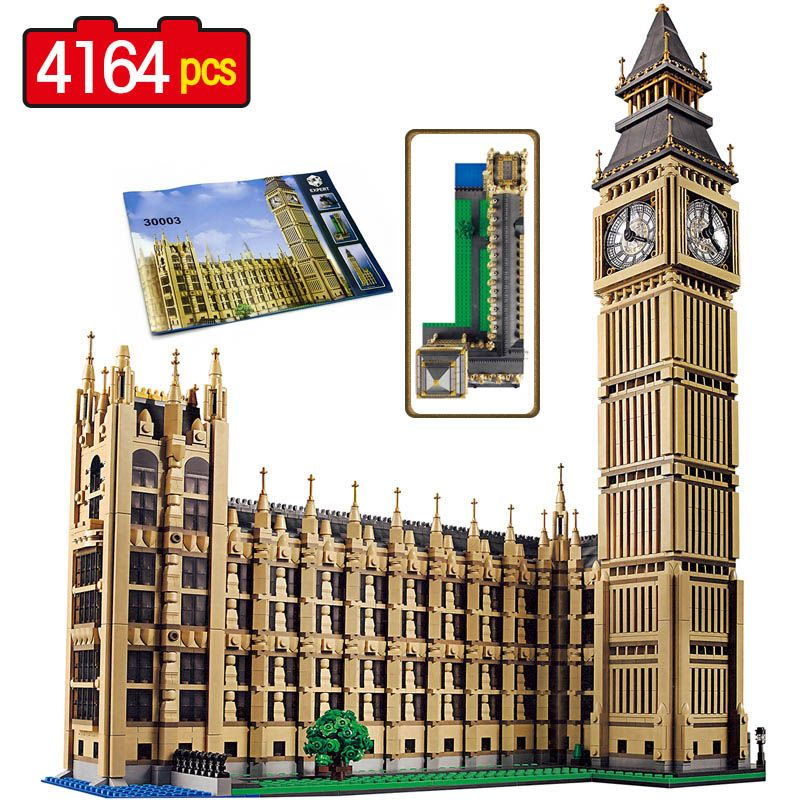 Street View Series Large Building Blocks World Famous Architecture Big Ben in London Compatible LegoINGlys City Technic 4164 Pcs