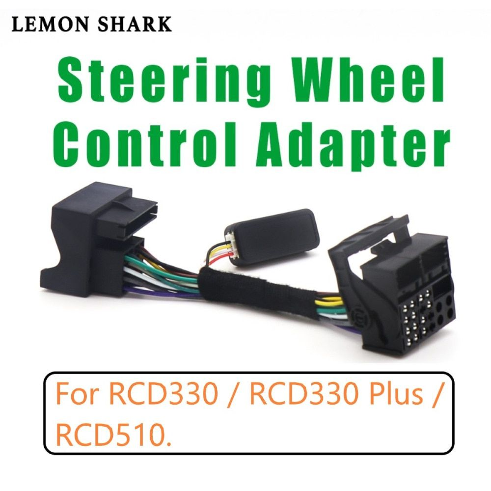 RCD330 RCD510 Multifunction Steering Wheel Button Control Simulator Adapter For VW Golf 5 6 Jetta MK5 Touran Caddy Passat B6