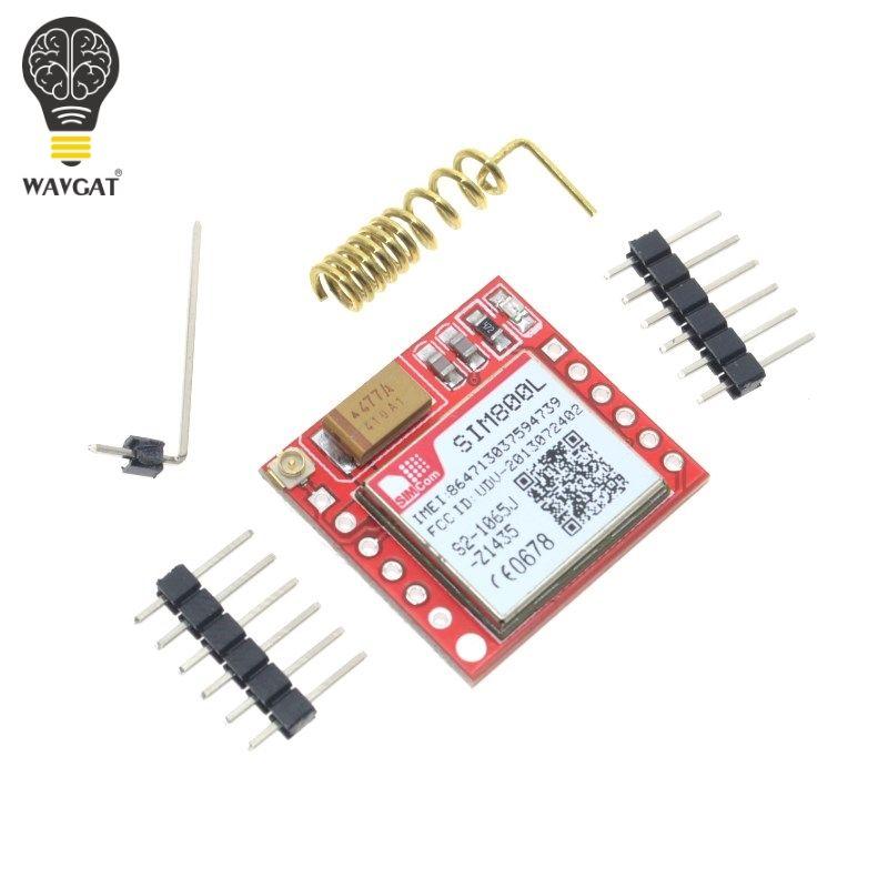 WAVGAT Kleinste SIM800L GPRS GSM Modul MicroSIM Karte Core BOard Quad-band TTL Serial Port
