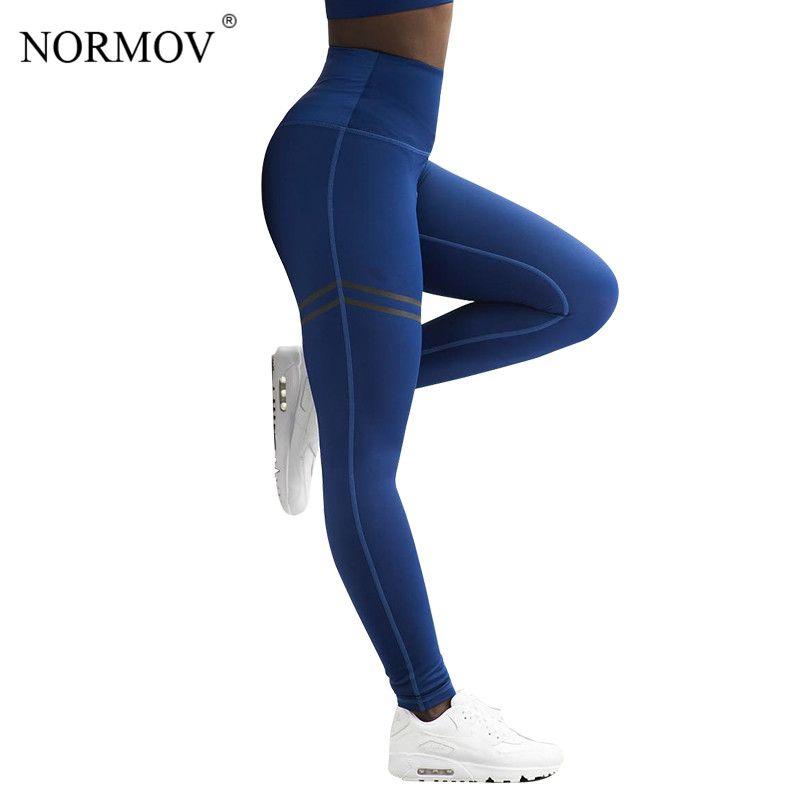 NORMOV Activewear taille haute Fitness Leggings femmes pantalons mode Patchwork entraînement Legging Stretch vêtement de sport fin jegging