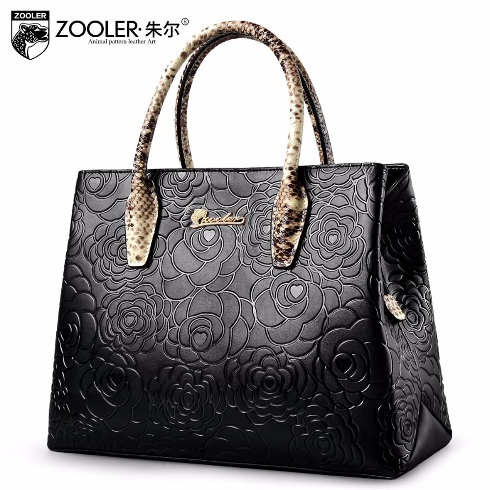 Embossed pattern leather tote bag 2018 genuine leather bag ZOOLER handbag women bag cowhide leather bags bolsa feminina #5002