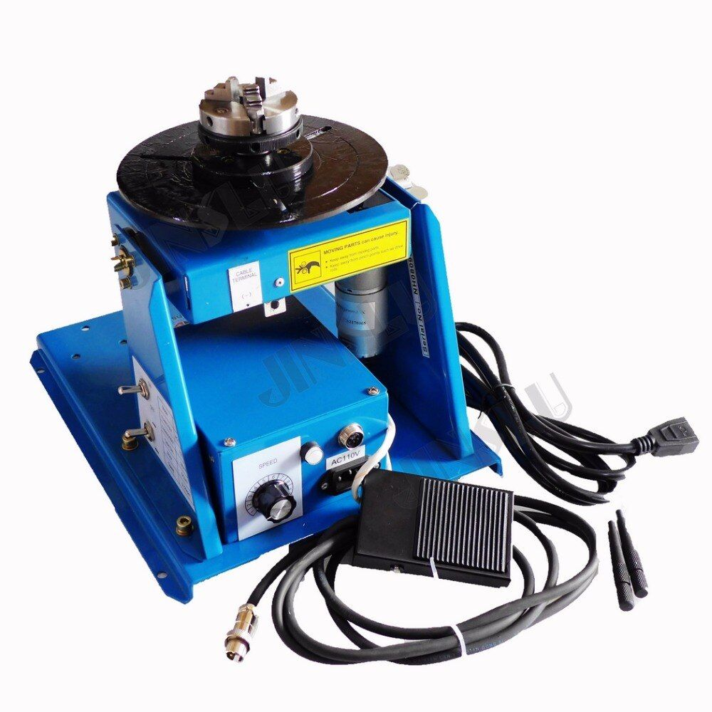 110V Mini Welding Positioner BY-10 Rotary Welding Table 10KG With K01-63 Lathe Chuck