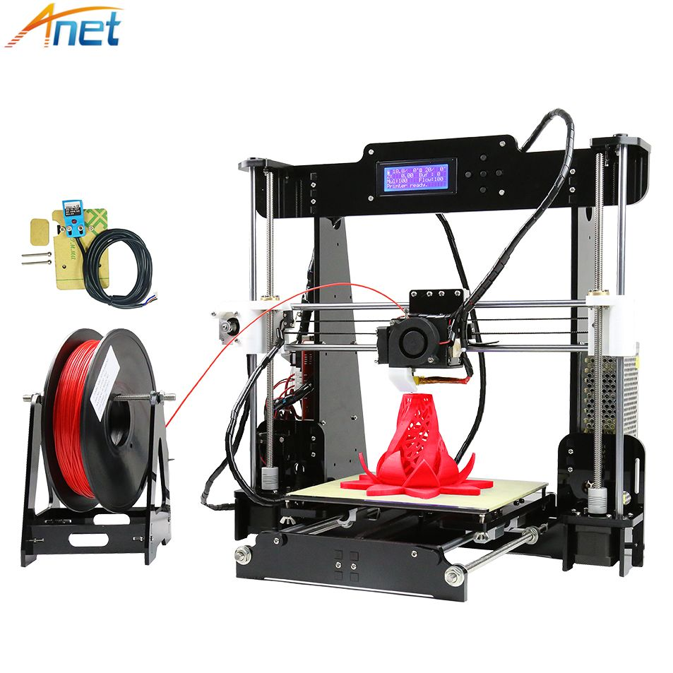 2018 New ! Anet Autolevel&Normal A8 3D Printer Kit Large Printing Size DIY Reprap i3 3D Printing with Filament 8GB SD Card+Tool