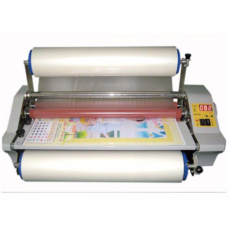 FM 480 papier laminieren maschine, Vier Rollen, arbeiter karte, büro datei laminator.100 % Garantierte foto laminator 1 stück