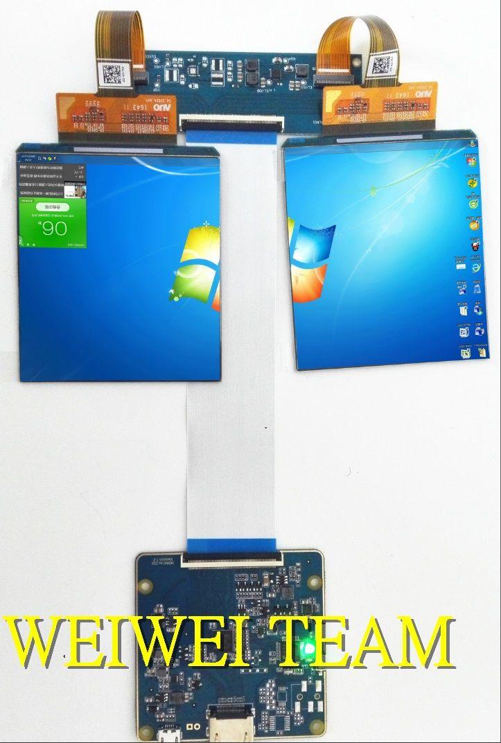 3,81 zoll 1080x1200 AMOLED display screenn 3D VR head mounted display mit HDMI zu MIPI bord für HMD TF38101A