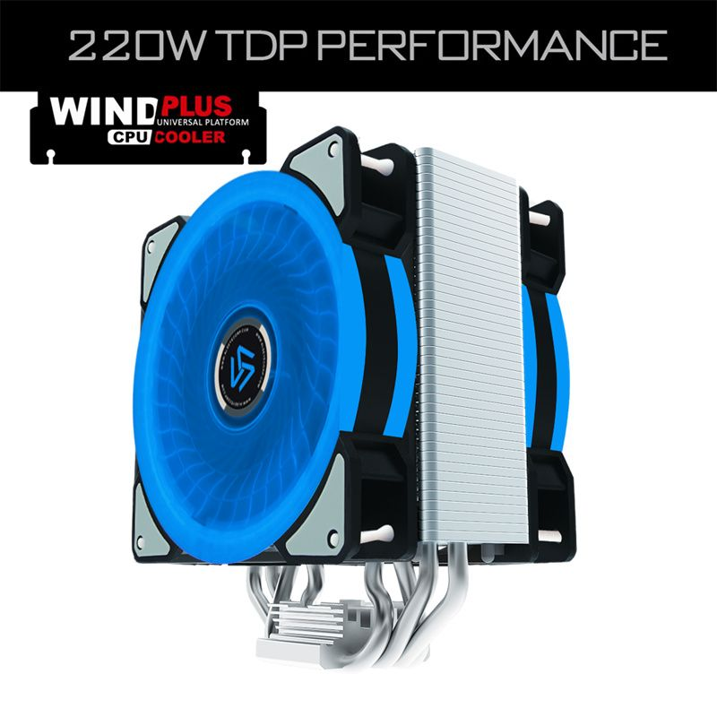 ALSEYE CPU cooler 4 heatpipes with Dual 4pin PWM LED 120mm fan Radiator for LGA 2011/1151/1155/1156/775/1366/AM2+/AM3+/AM4