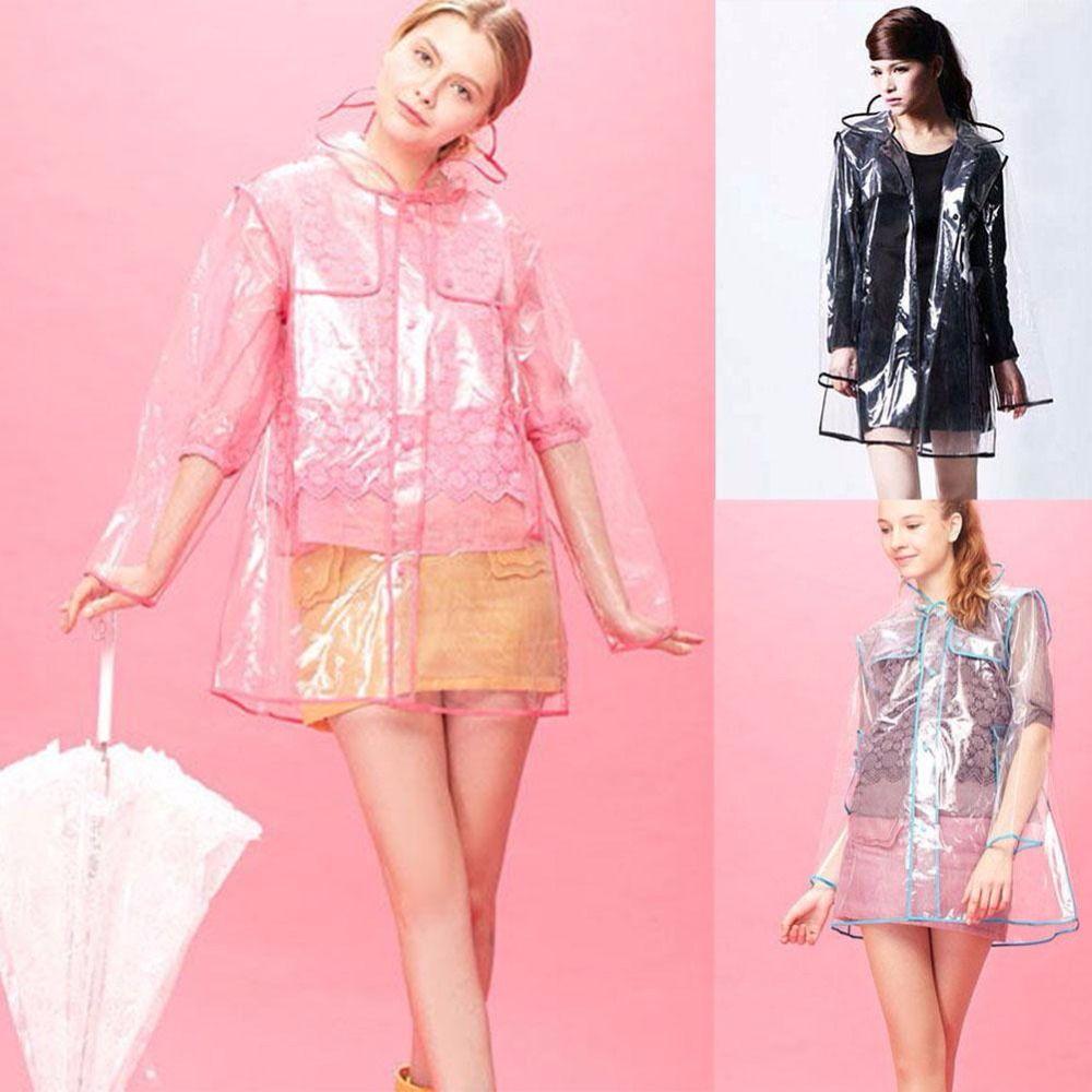 Imperméable Transparent hommes femmes unisexe imperméable coupe-vent imperméable manteaux de pluie en plein air randonnée imperméable veste Poncho à capuche