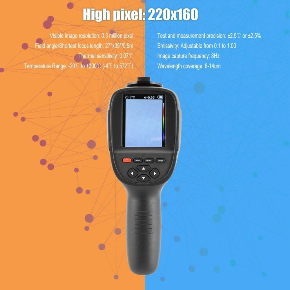 Portable Handheld HD Thermal Imaging Camera Infrared Imaging Sensor Visible Light Camera Built-in Chargeable Battery
