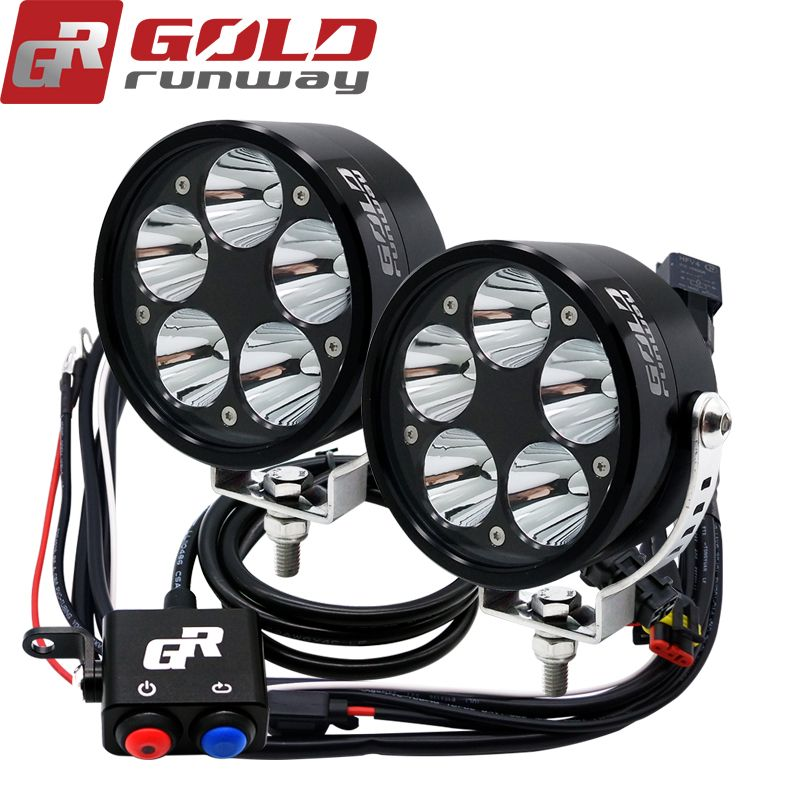 2pcs Motorcycle LED Headlight spot Light Upper-Mid-Low Beam U3 50W 6000LM 10-30V Motorbike Motorcycle Headlight