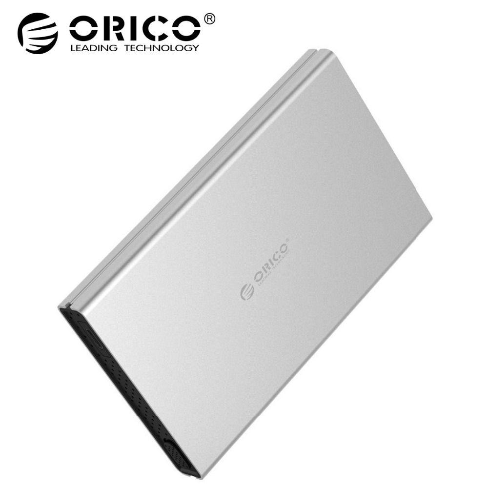 ORICO SSD Adapter HDD Gehäuse USB3.0 zu SATA3.0 Werkzeug Kostenloser Aluminium HDD Fall Unterstützung UASP für 2,5 zoll SATA HDD SSD