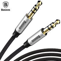 Baseus 3.5mm Jack Audio Câble Jack 3.5mm Mâle à Mâle Tissu Audio Aux Câble Pour iPhone Voiture Casque Haut-Parleur Fil Ligne Aux Cordon