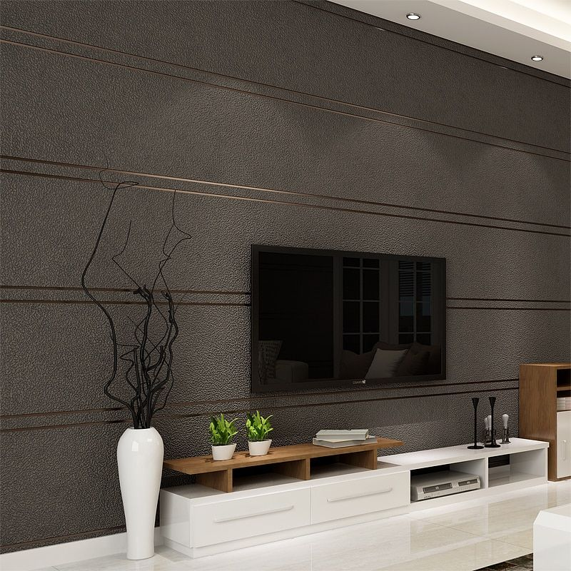 Modern Simple Suede Marble Stripes Wallpaper For Walls Roll Papel De Parede 3D Non-woven Desktop Wall Paper Living Room Bedroom