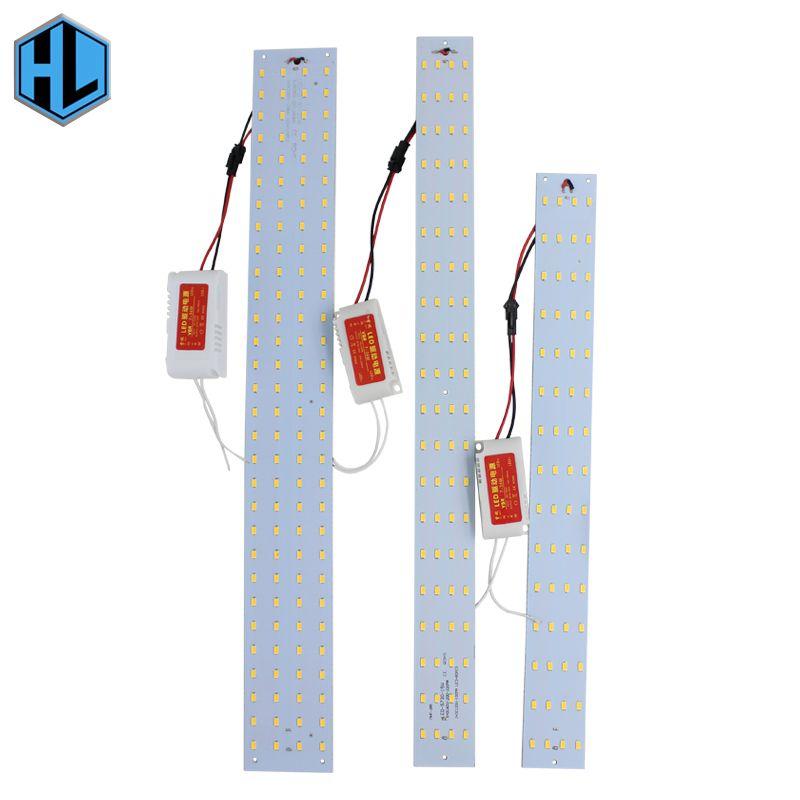 Livraison gratuite 10 W 15 W 21 W 180-265 V Magnétique Rectangulaire Carré Led Plafond Tube Lampes Remplacement Tube Lumières
