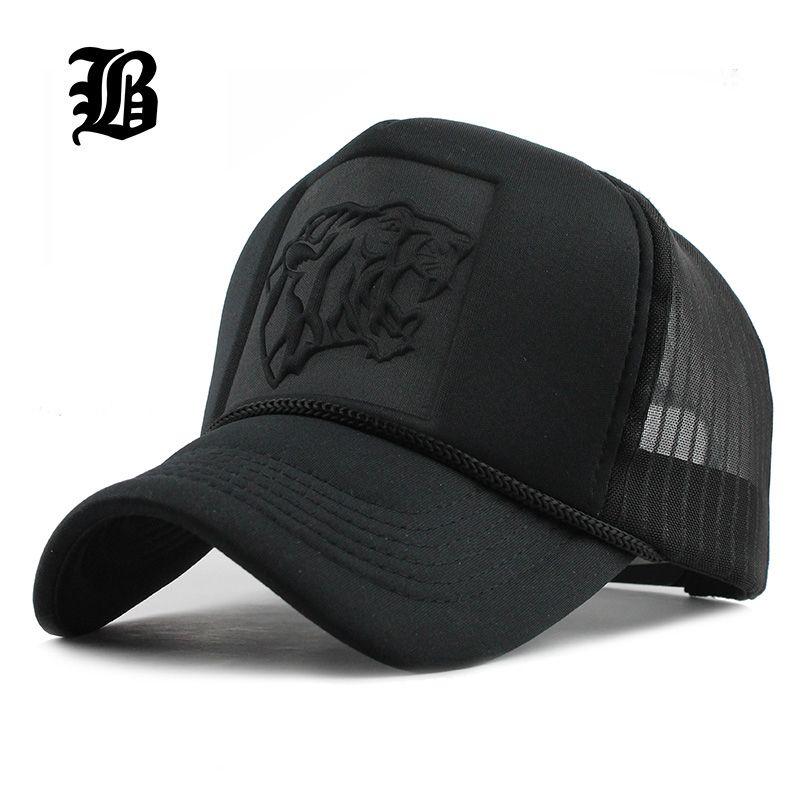 [FLB] 2019 Hip Hop noir imprimé léopard courbé casquettes de Baseball été maille Snapback chapeaux pour femmes hommes casquette de camionneur