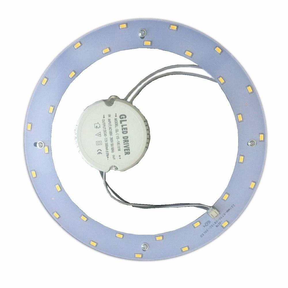 Haute luminosité 5730 1800LM 18 w LED anneau magnétique plaque 110 v 220 v à remplacer 50 w LED anneau de lumière au plafond de vieux 2D tube