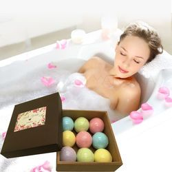 YANQINA Bath Bombs Set Rose Essential oil Moisture Body Scrub Bath Fizzies Gift