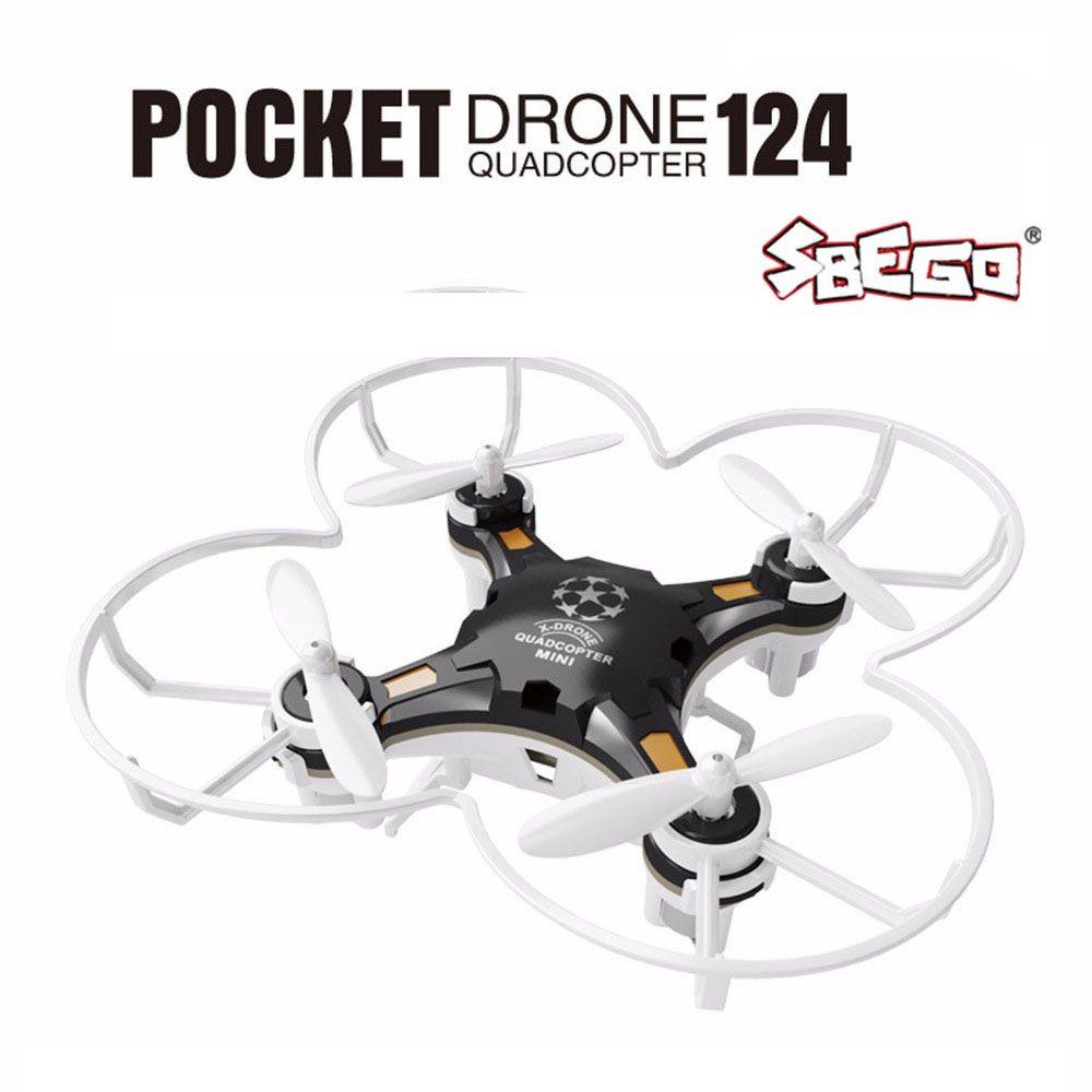 SBEGO FQ777-124 Mini Drone Micro Poche 4CH 6 Axe Gyro Commutable Contrôleur RC Hélicoptère Enfants Jouets VS JJRC H37 H31 Quadcopter