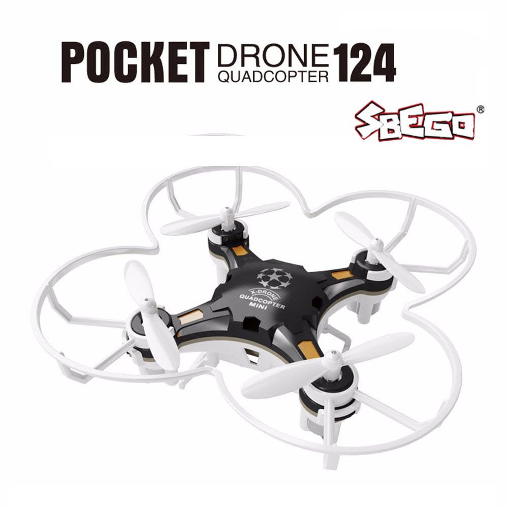 SBEGO FQ777-124 <font><b>Mini</b></font> Drone Micro Pocket 4CH 6Axis Gyro Switchable Controller RC Helicopter Kids Toys VS JJRC H37 H31 Quadcopter