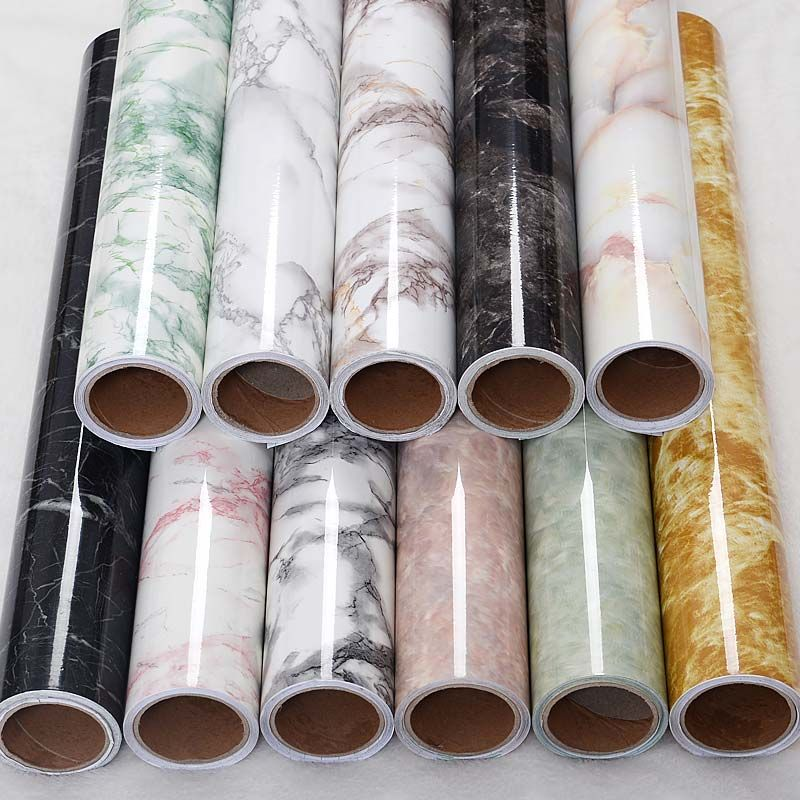 With thick waterproof imitation marble paper grain sticky wallpaper from furniture refurbished sticker desk mesa Boeing -291