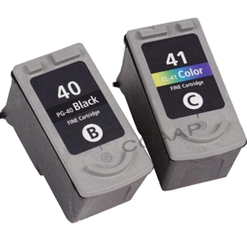 2x Refillable CANON PG40 CL41 inks PG-40 CL-41 100% QUALITY GUARANTEE for Pixma MP140 MP150 MP170 MP180 MP220 MP460 Printer