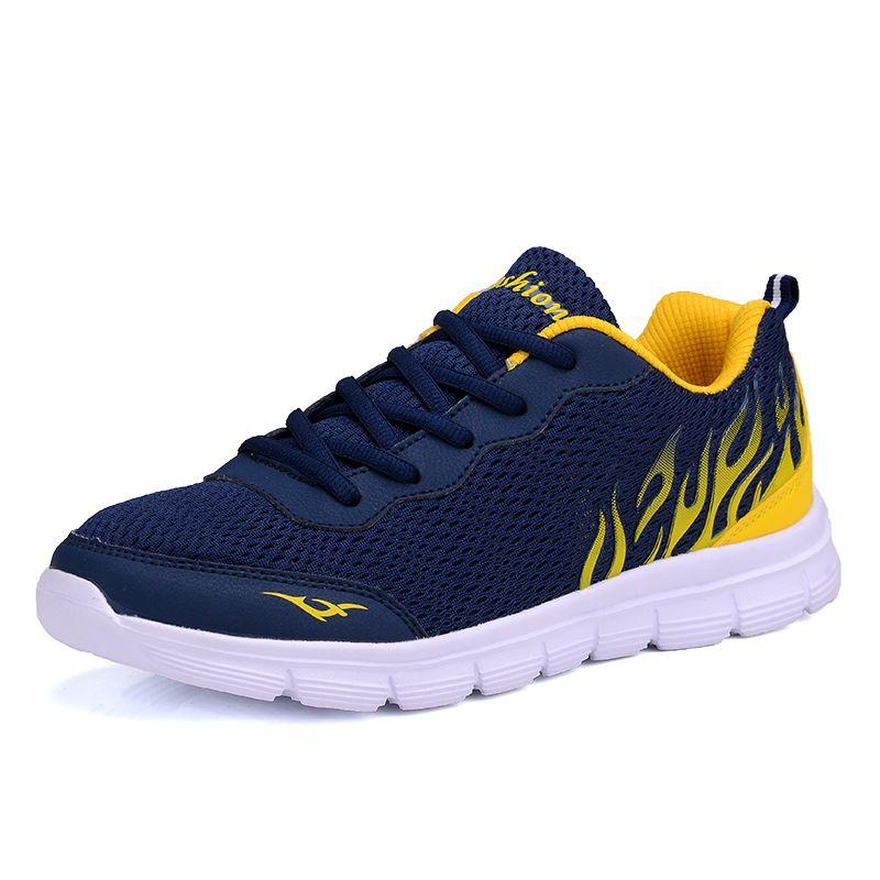 Más el tamaño 38-45 zapatos de los hombres 2017 Del Acoplamiento Del Verano Zapatos de Los Hombres de La Moda Del Calzado Transpirable de Encaje hasta Zapatos de Los Planos Ocasionales hombres zapatillas de deporte