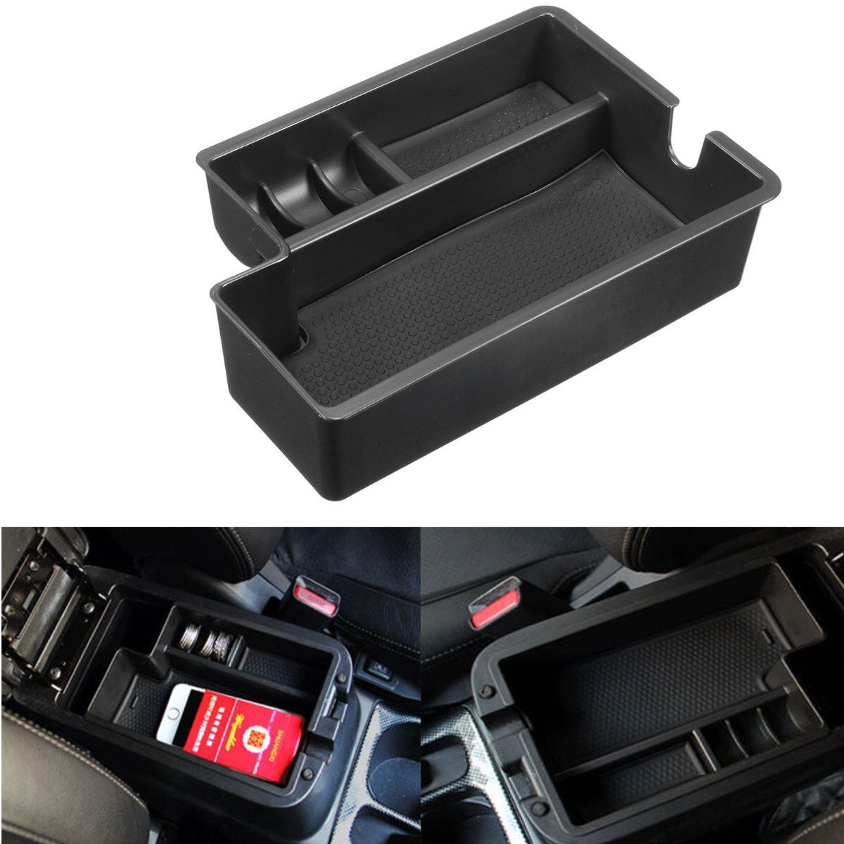 Car Stowing Tidying Armrest Container Central Storage Pallet Box Case For Mitsubishi /Outlander 2013 2014 2015 2016