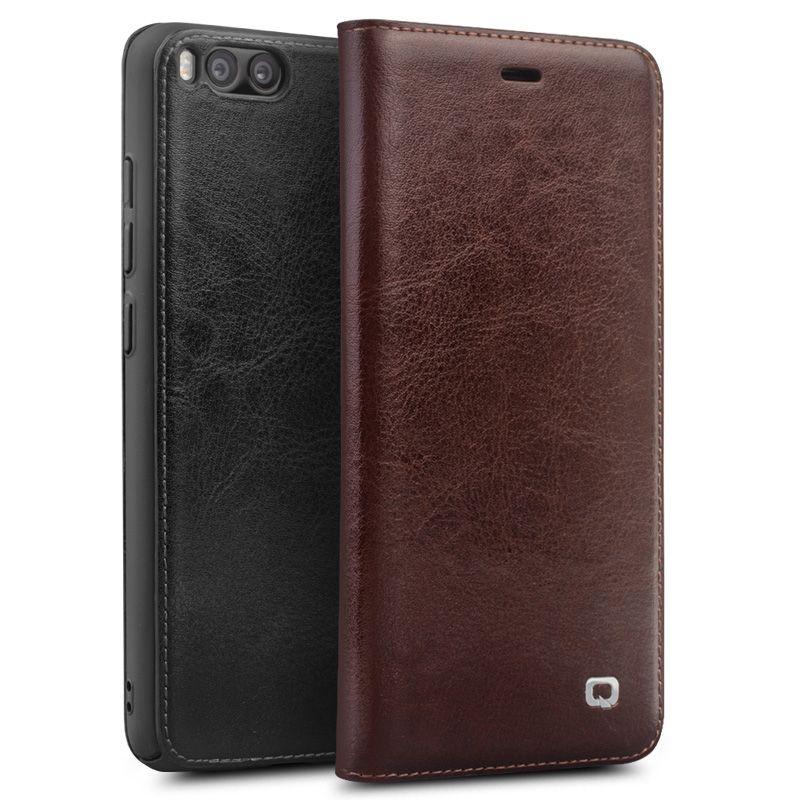 Qialino Echte Echtem Leder Fall Für Xiaomi 6 Mi6 Mi 6 fall für Xiaomi Mi6 Flip-Cover Wallet Card Slot Handytasche abdeckung
