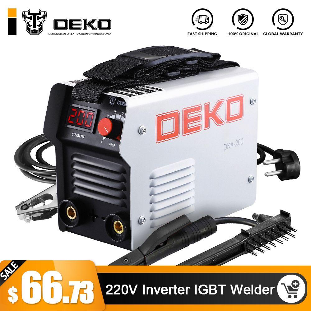 DEKO DKA Serie DC Inverter ARC Schweißer 220 V IGBT MMA Schweiß Maschine 120/160/200/250 amp für Home Anfänger Leichte Effiziente