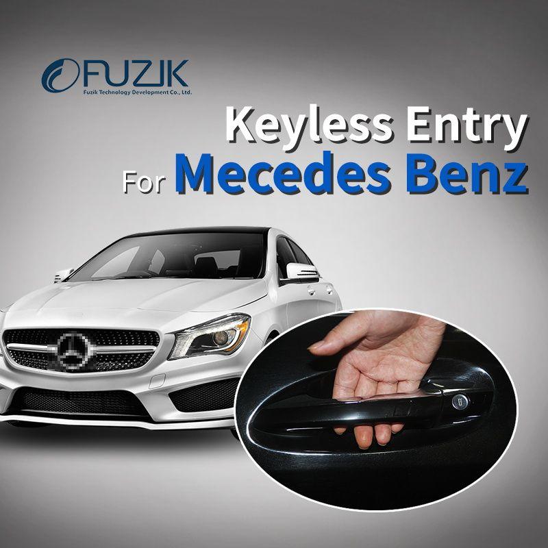 Fuzik Smart Key mit oem türgriff oem keyless entry komfort zugang modul fenster rollen oben für Mercedes Benz class c s glc