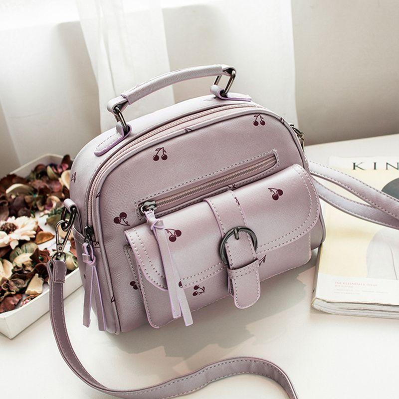 New 2017 Leather Pu Handbag women handbags Nubuck Fashion Ladies Shoulder Bags High Quality Printing hand bag woman pink bag